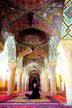 Pink Mosque - Iran - Explore the World with Travel Nerd Nici, one Country at a Time. http://TravelNerdNici.com