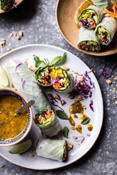 Avocado Veggie Spring Rolls with Sweet Thai Mango Sauce | halfbakedharvest.com @hbharvest