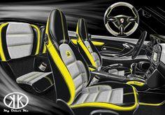 Custom Porsche 996 by Carbon Motors: custom leather seats, alcantara and leather dashboard, carbon fiber trim set Custom Porsche, Custom Leather, Car Stuff, Sport Cars, Porsche 911, Carbon Fiber, Cool Cars, Motors, Car Seats