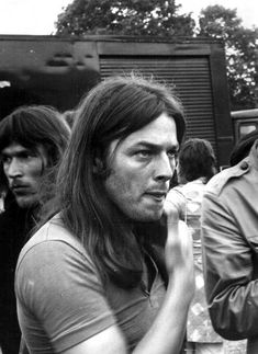 David Gilmour of Pink Floyd at Hyde Park, London c.1970
