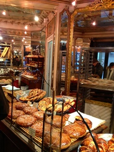 Bakery in Paris.  I wish we had bakeries like this area here.