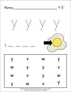 Sharing Kindergarten: Ww and Yy Phonics Freebies