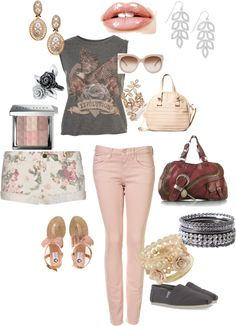 Pink & Grey for Spring & Summer, created by trin-cb on Polyvore