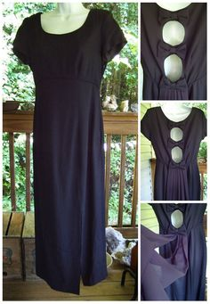 Vintage Long Black Dress / 1970s Black Maxi by GypsumMoonStyle, $120.00