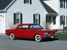 1960 Chevrolet Corvair 700 Club Coupe.  This was my first car. The trunk is in the front.