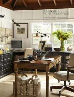 awesome office - by Pottery Barn