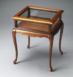 Chelmsford Curio Table Gl Top Display Cherry Free Shipping 755918528411 Ebay