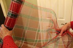 How To Make a Deco Mesh Garland