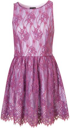 topshop dresses | Topshop Lace Skater Dress in Purple - Lyst