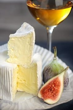Camembert Cheese and a glass of Sauternes