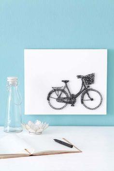 String art bicycle