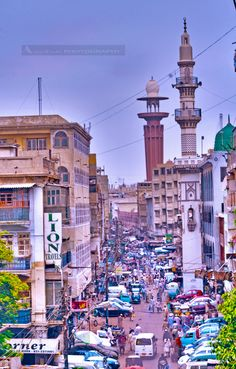 Karachi Cityscape. Karachi is the largest and most populous metropolitan city of Pakistan and its main seaport and financial center, as well as the capital of Sindh province.