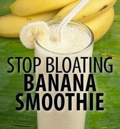 stop bloating banana smoothie