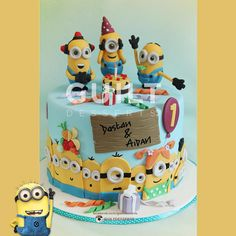 Minions! - Cake by guiltdesserts Must find someone who can pull this off for my daughter's birthday!!