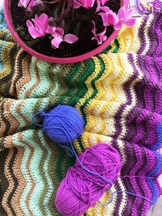 Reload time | Cherry Frog Crochet Ripple Blanket, Different Shades Of Green, Purple Lace, Hand Dyed Yarn, Knitting Needles, Dusty Pink, Really Cool Stuff, Crochet Necklace, Cherry
