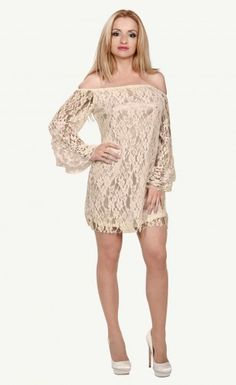 $29.99 Lace Off-The-Shoulder Mini Dress