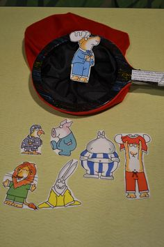 "October 2015.  THEME:  Animals Get Dressed!   Snoozers by Sandra Boynton served as the inspiration for this magic bag trick.  ""Chickens like pajamas with a hat to match. Piggies like pajamas with the feet attached. Hippos wear pajamas just a little tight. Lions like pajamas that fit just right. Rabbits like pajamas just a little loose. But you've got to have buttons if you're a moose. ""  The moose emerged from the magic bag with his buttoned pajamas!"