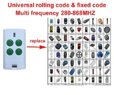 Universal Multi frequency 280-868MHZ 4 Button Key Fob rolling code Remote Control DHL free shipping #Affiliate