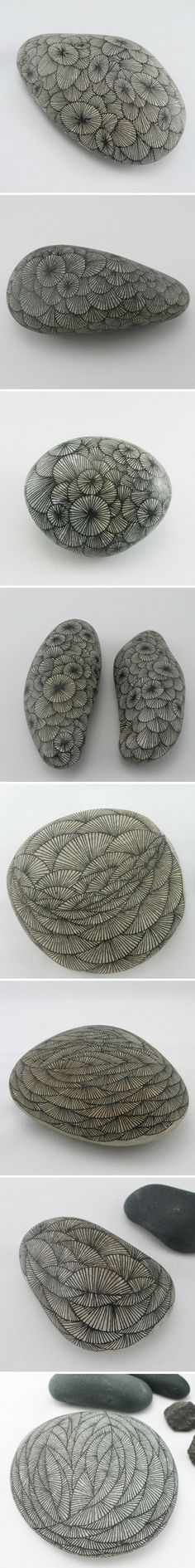 zentangle stones... such pretty work.