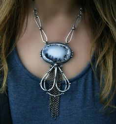 Silence of the Winter Dendritic Opal Sterling Silver