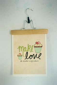 Kitchen Decor Wall Art For Bakers  And Make by LisaBarbero on Etsy, $20.00