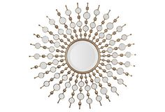Contemporary Sunburst Mirror on OneKingsLane.com