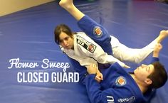 Flower Sweep - Closed Guard : #DRUB #BJJ #MMA #Grappling #Judo #Jiujitsu #Brazilianjiujitsu #WBJJ #WMMA #Muaythai #Kickboxing #Catchwrestling #Wrestling #Freestylewrestling