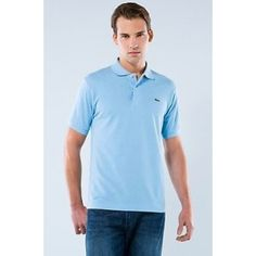 Men Polo Shirt Short Sleeve,Sky Blue