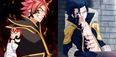 Natsu as Etherious Natsu Dragneel (END) and Gray as Ice Demon Slayer | Nice Art | Fairy Tail