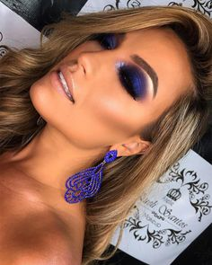 """History of eye makeup """"Eye care"""", put simply, """"eye make-up"""" has always been an area Hooded Eye Makeup, Blue Eye Makeup, Smokey Eye Makeup, Glam Makeup, Makeup Art, Beauty Makeup, Blue Smokey Eye, Blue Makeup Looks, Asian Makeup"""