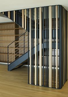 Sunset Overlook - modern - staircase - san francisco - John Lum Architecture Inc. Room Divider Headboard, Bamboo Room Divider, Glass Room Divider, Room Divider Walls, Living Room Divider, Fabric Room Dividers, Wooden Room Dividers, Portable Room Dividers, Hanging Room Dividers