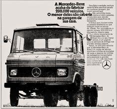 Anúncio caminhão Mercedes-Benz - 1973