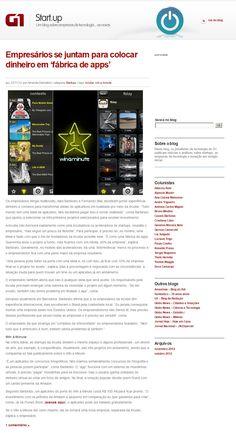 Título: Empresários se juntam para colocar dinheiro em 'fábrica de apps'. Veículo: G1. Data: 22/11/2012. Cliente: Incube.