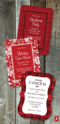 Are you throwing a Holiday Party? Be sure to check out our entire collection of Custom and Die Cut Christmas invitations from Julie Bluet