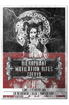HIEROPHANT + MUTILATION RITES + CUERVO | poster on Behance