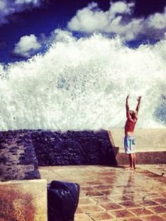 Ha so fun... Life sometimes you have to endure the Storms, so try and have fun ;)