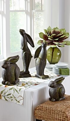 Bunny Garden Statues | Gumpu0027s | All That Is Spring | Pinterest | Garden  Statues, Bunny And Gardens
