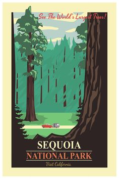 Sequoia National Park Travel Poster Wall by TheWorldTravelers