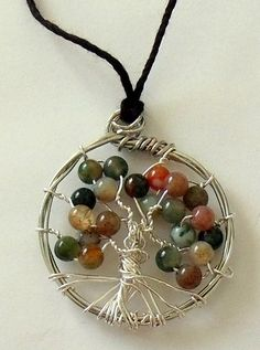 Handcrafted Genuine Jasper Beaded Tree of Life by InMyCottage