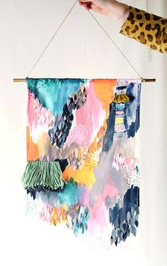 Letting Go: An Exploration of Abstract Painting {registration has just opened} - Jeanne Oliver Furoshiki, Home Decoracion, Art Textile, Art Plastique, Oeuvre D'art, Art Inspo, Mobiles, Collage Art, Bunt