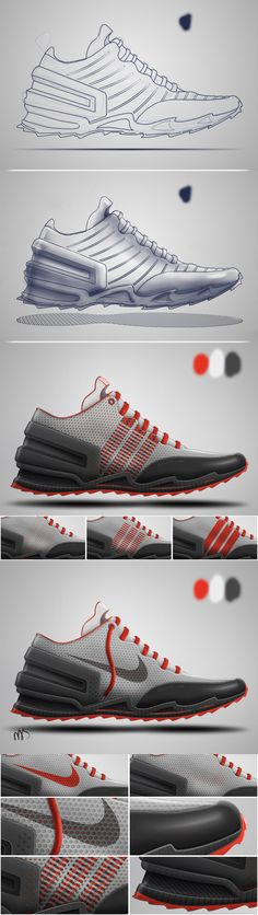 2014 Footwear Sketches by Nassir Khamin, via Behance