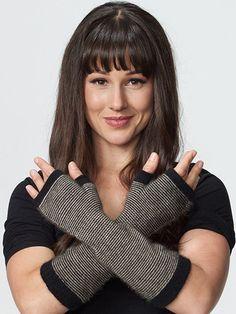 Possumdown Striped Glovelet from Possumdown