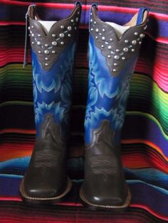 Gypsy Rose Authentic Handcrafted Western Boots Brand New In Box Denim Blue  Stun #GYPSYROSE #WESTERNBOOTS #ANY