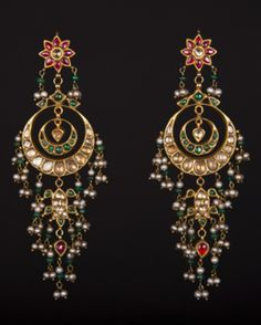 #chandbali #earrings #polki #gold #kundan
