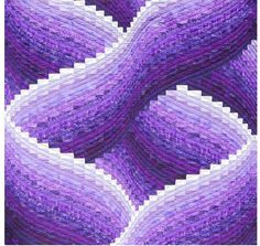LOVE THE QUILTING, PURPLE --I just had to pin this because I think it's amazing.