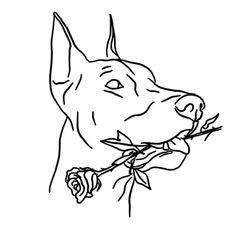 Cool Art Drawings, Art Drawings Sketches, Tattoo Sketches, Tattoo Drawings, Dog Tattoos, Body Art Tattoos, Small Tattoos, Tattoo Flash Art, Tatoo Art