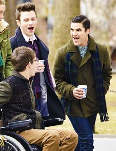 Filming Glee in Washington Square Park in New York City (March 14, 2014)
