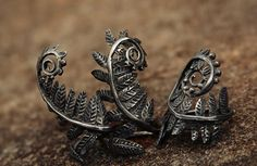 Copper Jewelry, Cute Jewelry, Jewelry Accessories, Jewelry Design, Unique Jewelry, Piercings, Handmade Copper, Fancy, Ferns