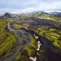 """""""Photo @ladzinski / The Iceland Highlands are primarily a volcanic desert, covering the bulk of the interior of the island. The majority of water here is…"""""""