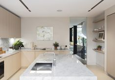 Nathalie Priem Photography  Elegant and contemporary kitchen in Notting Hill home. Designed by Echlin.